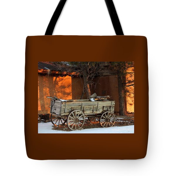 Sunset And Shadows Tote Bag