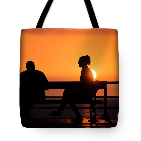 Sunset Silhouettes Tote Bag