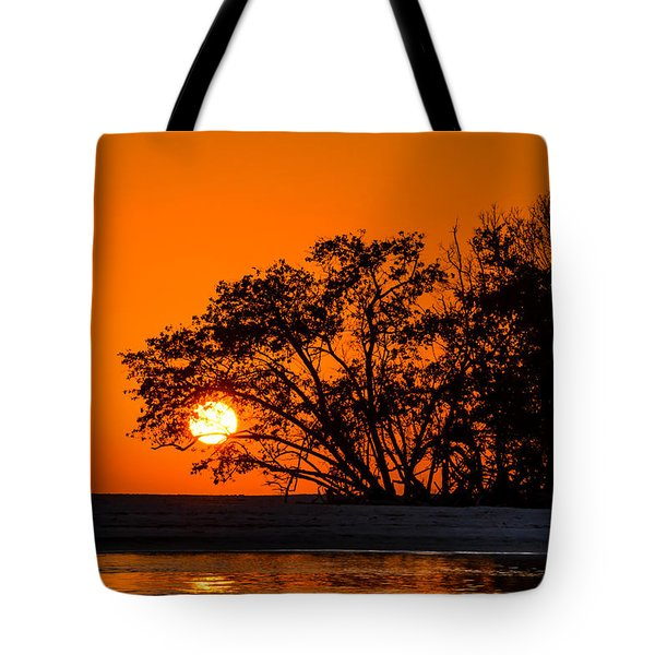 Sunset Sillouette Tote Bag