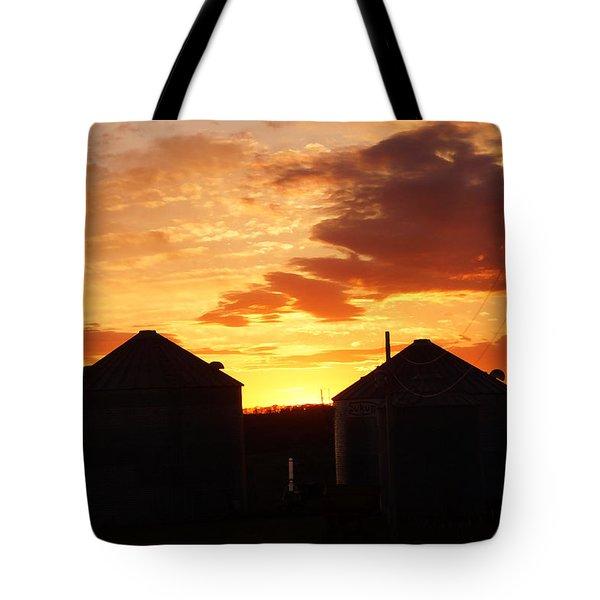 Sunset Silos Tote Bag