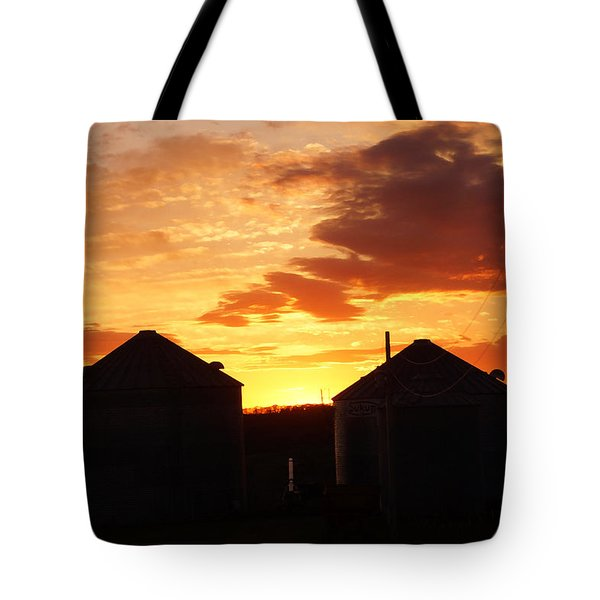 Sunset Silos Tote Bag