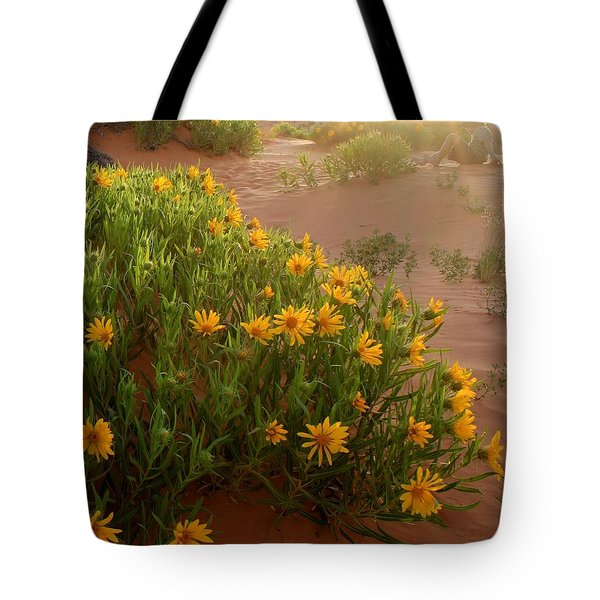 Sunset Sit Tote Bag