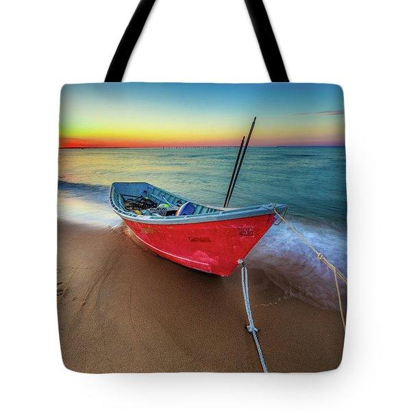Sunset Skiff Tote Bag