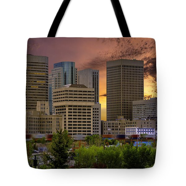 Sunset Skyline Tote Bag