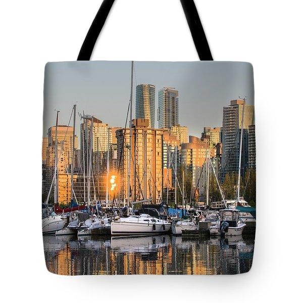 Sunset Skyline Tote Bag