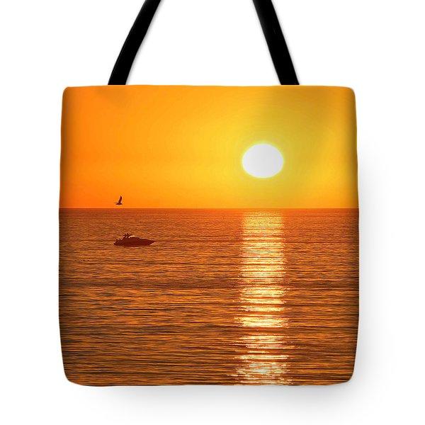 Sunset Solitude Tote Bag
