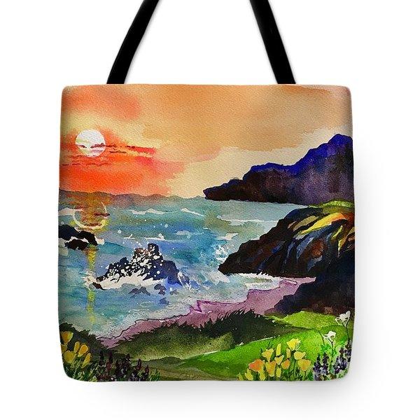 Sunset Sonoma Coast  Tote Bag