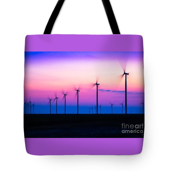 Sunset Spinning Tote Bag