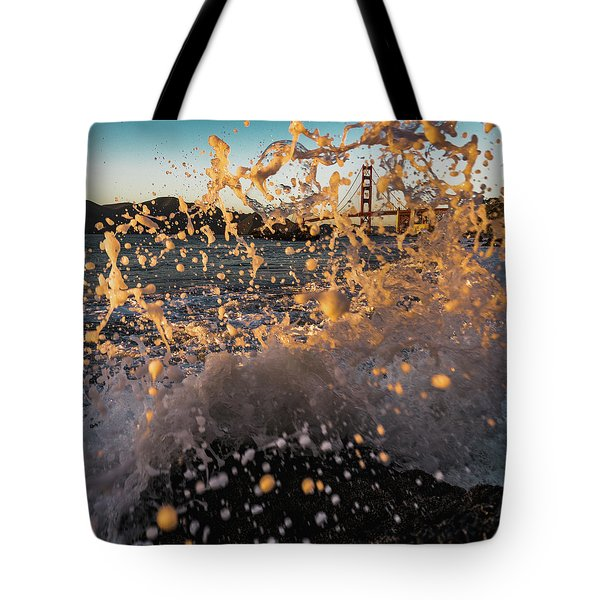 Sunset Splash Tote Bag