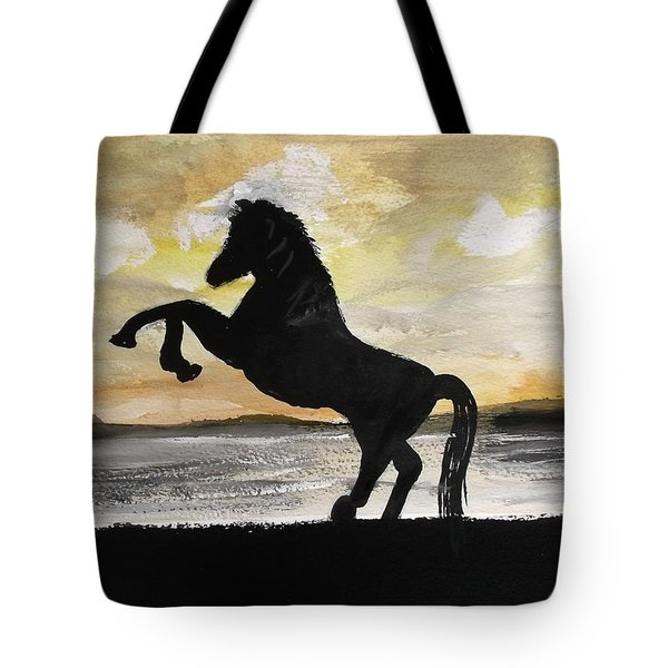 Sunset Stallion Tote Bag by Carole Robins