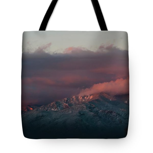 Sunset Storm On The Sangre De Cristos Tote Bag