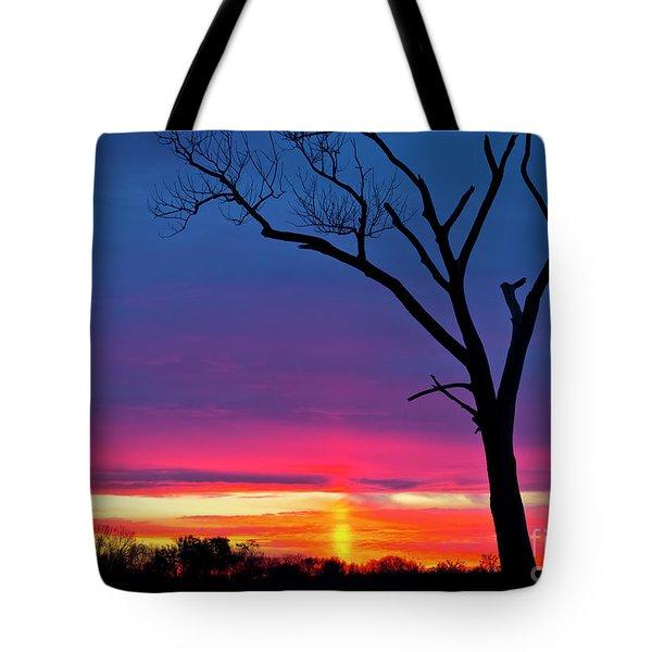 Sunset Sundog  Tote Bag by Ricky L Jones