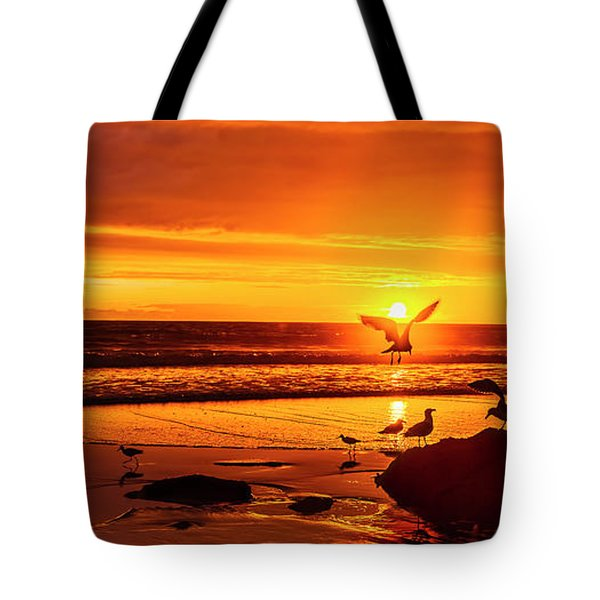 Sunset Surprise Pano Tote Bag
