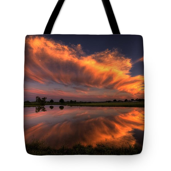 Sunset Symmetry Tote Bag