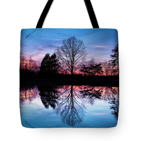 Sunset Symmetry Tote Bag