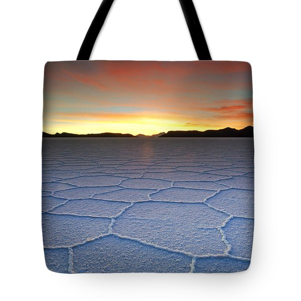 Lake Uyuni Sunset Texture Tote Bag