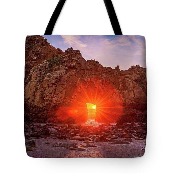 Sunset Through  Tote Bag