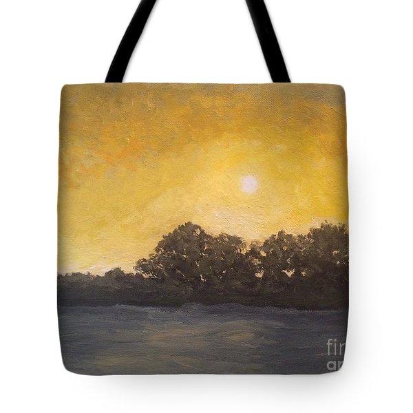 Sunset Through The Fog Tote Bag