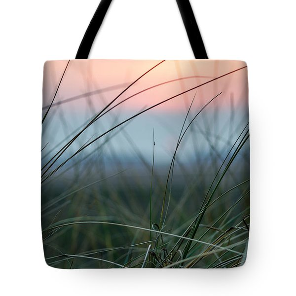 Sunset  Through The Marsh Grass Tote Bag