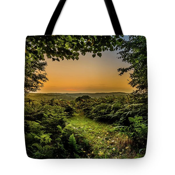 Sunset Through Trees Tote Bag