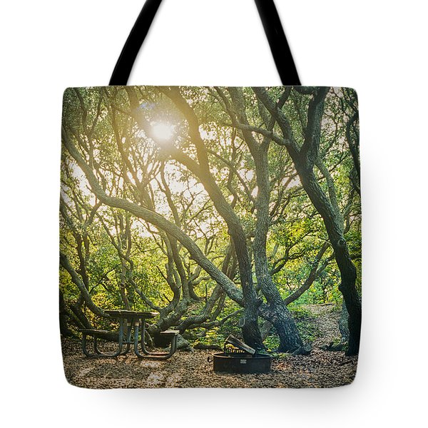 Sunset Thru The Trees Tote Bag