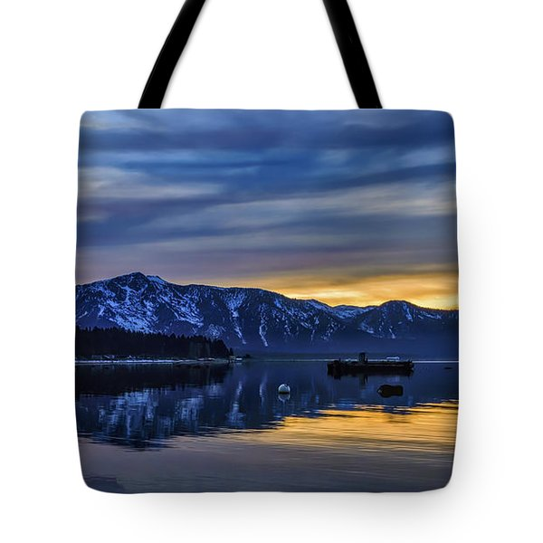 Sunset Timber Cove Tote Bag