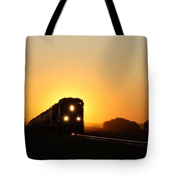 Sunset Express Tote Bag
