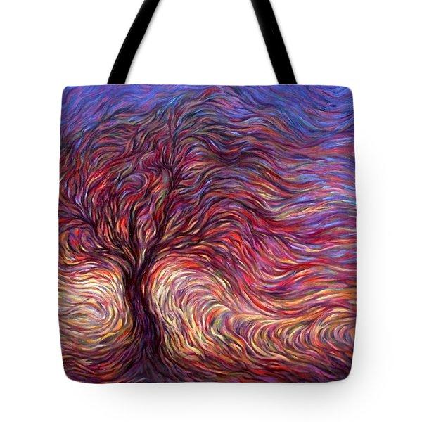 Sunset Tree Tote Bag