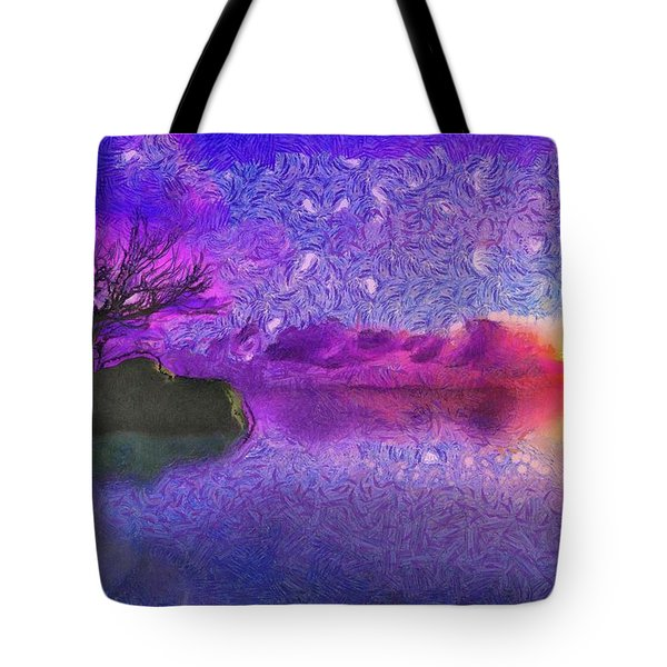Sunset Tribute To Van Gogh Tote Bag