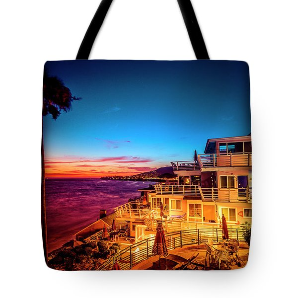 Sunset Twilight At The Laguna Riviera Tote Bag