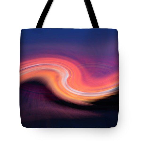 Sunset Twirl Tote Bag