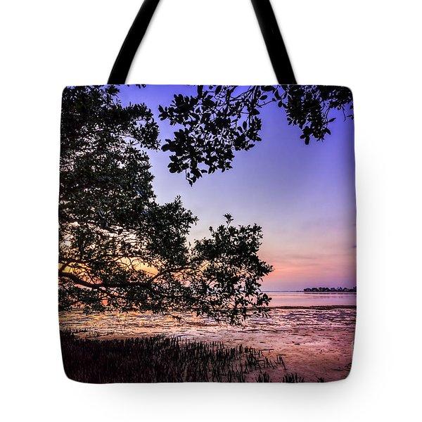 Sunset Under The Mangroves Tote Bag