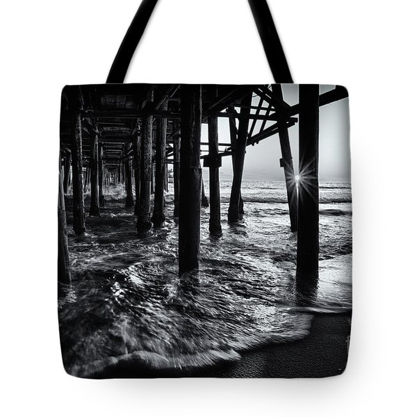 Sunset Under The Santa Monica Pier Tote Bag