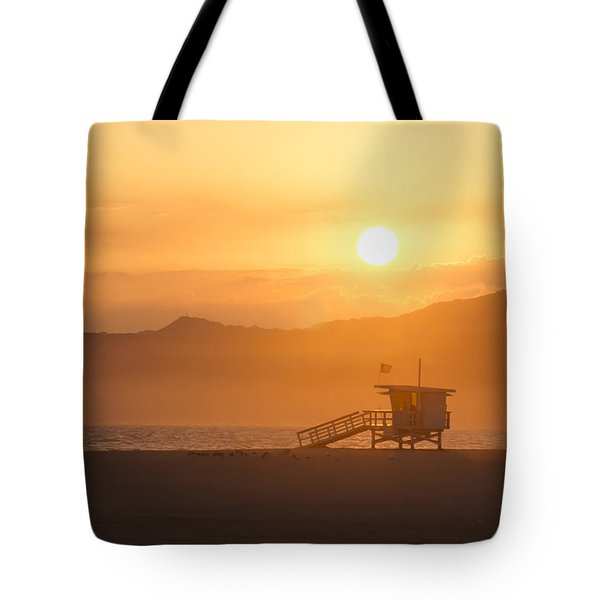 Sunset Venice Beach  Tote Bag