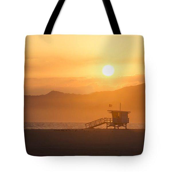 Sunset Venice Beach  Tote Bag