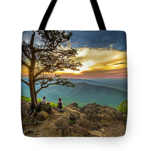 Sunset View At Ravens Roost Tote Bag