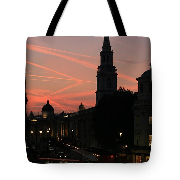 Sunset View From Charing Cross  Tote Bag