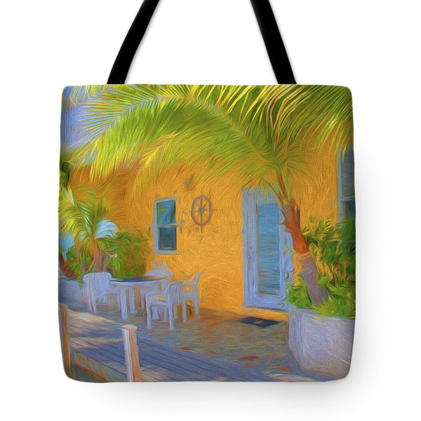 Sunset Villas Waterfront Apartment Tote Bag