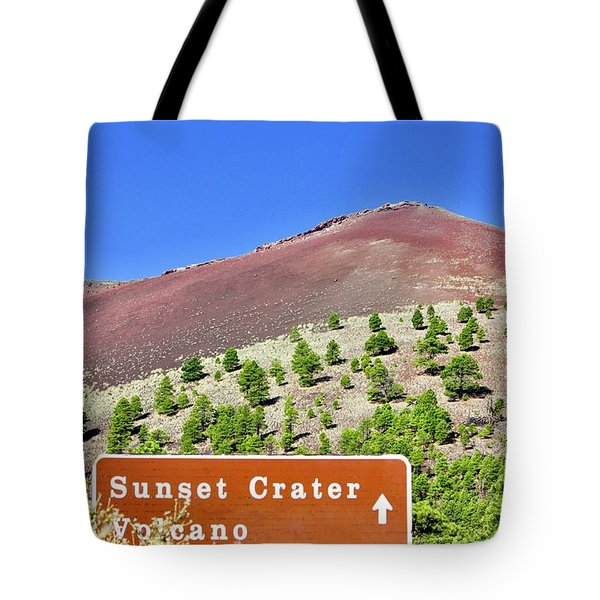 Sunset Crater Volcano Tote Bag
