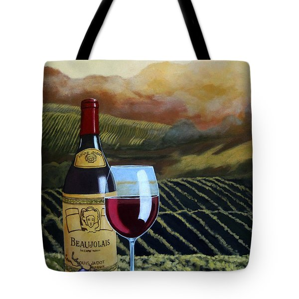 Sunset W/beaujolais Tote Bag