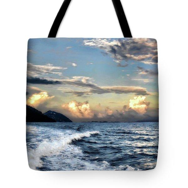 Sunset Wake Tote Bag
