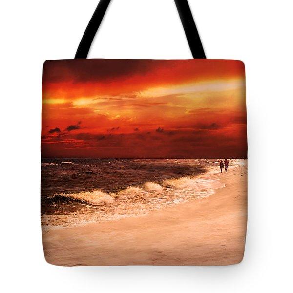 Sunset Walk Tote Bag