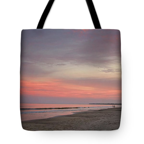 Tote Bag featuring the photograph Sunset Walk by Sally Simon