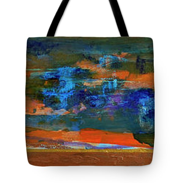 Tote Bag featuring the painting Sunset Panorama by Walter Fahmy