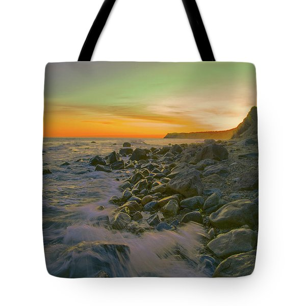 Sunset Waves Tote Bag by Todd Breitling