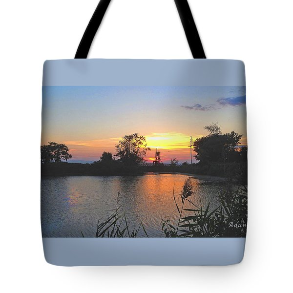 Sunset West Of Myer's Bagels Tote Bag by Felipe Adan Lerma