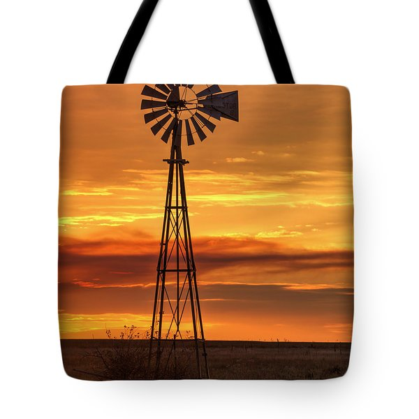 Sunset Windmill 01 Tote Bag