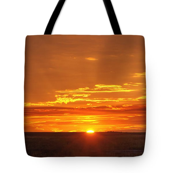 Sunset Windmill 02 Tote Bag