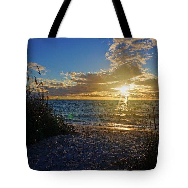 Sunset Windsurfer Tote Bag