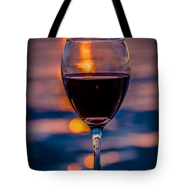 Tote Bag featuring the photograph Sunset Wine by Michaela Preston